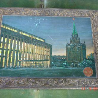 Коробка жесть Кремль Красный октябрь СССР