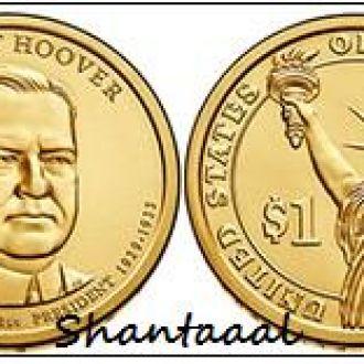 Shantааal, США 1 доллар 2014, 31 президент Герберт Гувер (1929-1933)