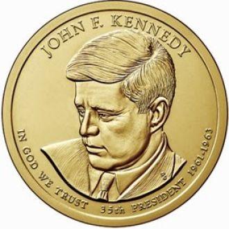 Shantal, США 1 доллар 2015, 35 президент Джон Кеннеди (1961-1963)