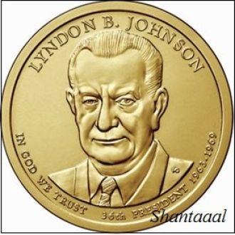 Shantal, США 1 доллар 2015, 36 президент Линдон Джонсон (1963-1969)