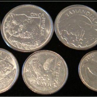 Shantааal, Бразилия Набор из 7 монет UNC