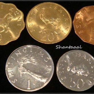 Shantааal, Танзания Набор из 5 монет UNC