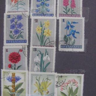 марки різних країн квіти цветы 28 шт