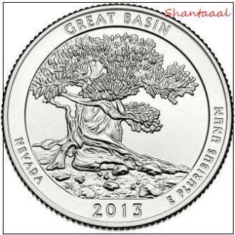 Shantal, США 25 центов 2013, 18 Парк Национальный парк Грейт-Бейсин, штат Невада