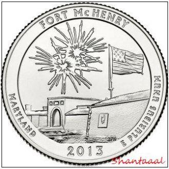 Shantal, США 25 центов 2013, 19 Парк Форт Мак-Генри, штат Мэриленд