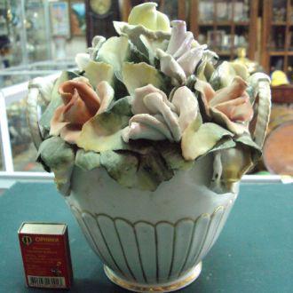 Румыния ваза с цветами фарфор