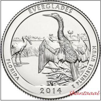 Shantal, США 25 центов 2014, 25 Парк Национальный парк Эверглейдс, штат Флорида