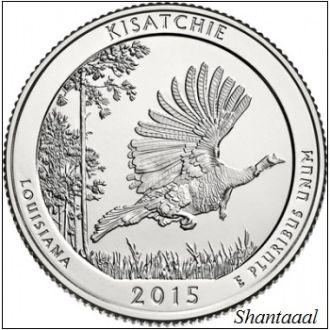 Shantal, США 25 центов 2015, 27 Парк Национальные лес Kисатчи, штат Луизиана