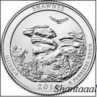 Shantal, США 25 центов 2016, 31 Парк Национальный лес Шоуни, штат Иллинойс