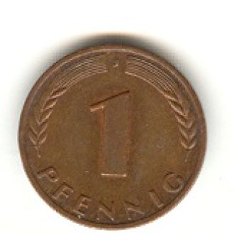 1 пфенниг 1950 J