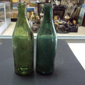 бутылка старая. лот 2штуки лсз + рсз