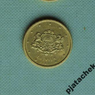 10 центов 10 евроцентов Латвия
