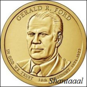 Shantal, США 1 доллар 2016, 38 президент Джеральд Форд (1974-1977)