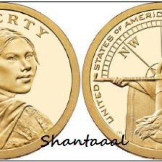 Shantaааl, США 1 доллар 2014, Помощь индейцев экспедиции Льюиса и Кларка