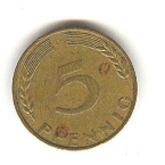 5 пфеннигов 1970 D