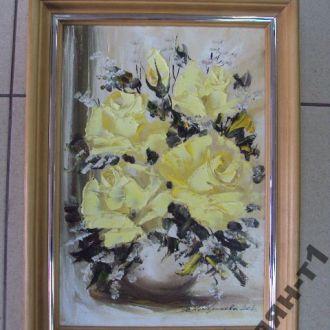 картина натюрморт розы кондрикова