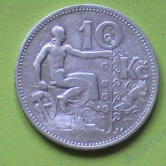 10 Крон 1931 г Серебро Чехословакия