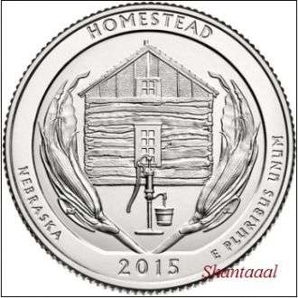 Shantal, США 25 центов 2015, 26 Парк Национальный монумент Гомстед, штат Небраска