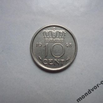 Нидерланды 10 центов 1948