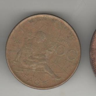 Италия 200 лир 1980 г. ФАО