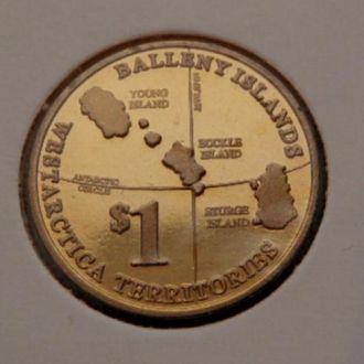 Остров Баллени. 1 Доллар.