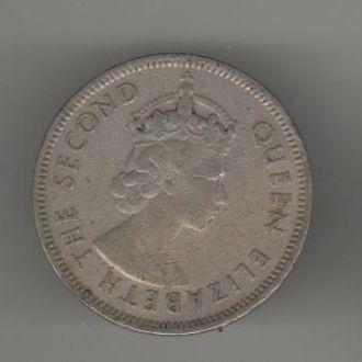 Маврикий 1/2 рупии1971