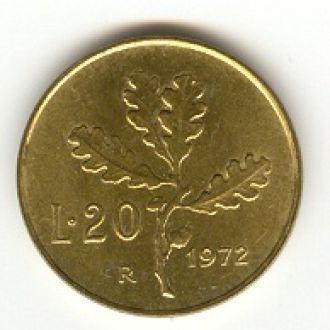 20 лир Италия 1972