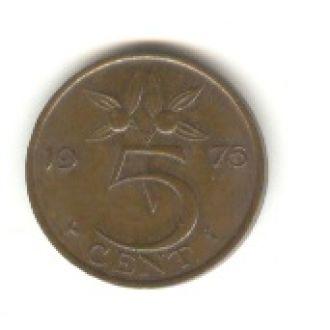 5 центов Нидерланды 1975