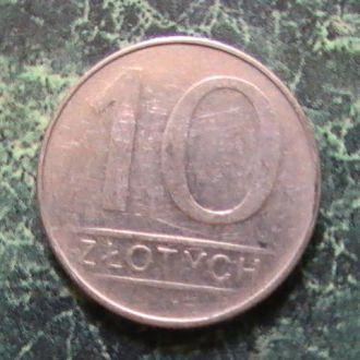 10 Злотых злотих 1988 года Польша Польща