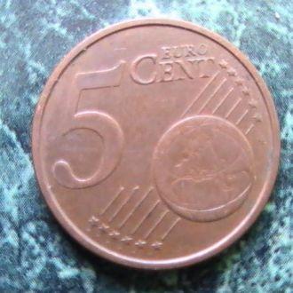 5 Евроцентов Центов 2002 г Италия 5 Центів 2002 р