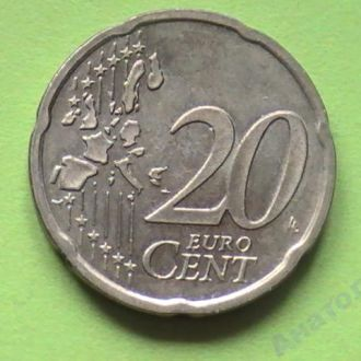 20 Евроцентов 2002 г Германия 20 Центов 2002 г