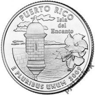 25 центов Пуэрто Рико 2009 г.
