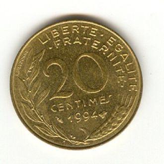 20 сантимов Франция 1994