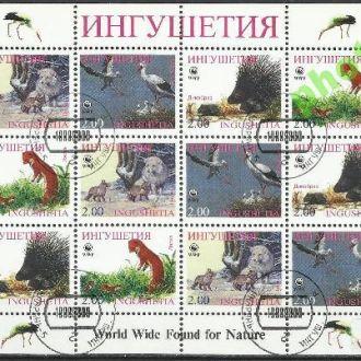 Россия Ингушетия 1998 фауна 12м.Клб гаш.