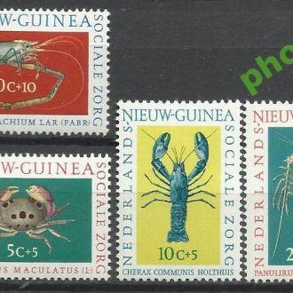 Нидерл. Новая Гвинея 1962 фауна морская 4м.**