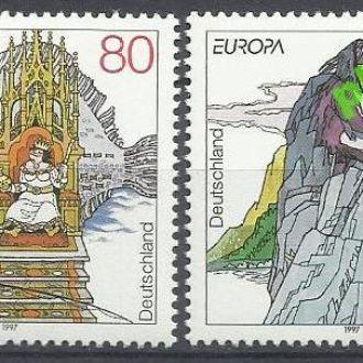 Германия 1997 Европа СЕПТ фауна легенды 2м.**