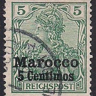 ГЕРМАНИЯ МОРОККО ОФИСЫ 1903 БЕЗ ВЗ ТИП 2 15 ЕВРО