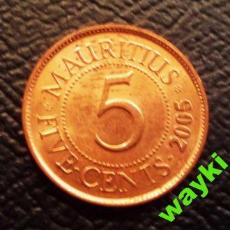Маврикий 5 центов 2005 г.