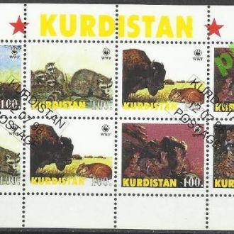 Россия Курдистан 1998 фауна 8м.Клб гаш.