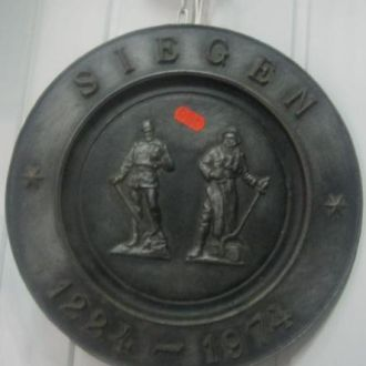 ГЕРМАНИЯ.  ТАРЕЛКА НАСТЕННАЯ. SIEGEN. 1224 - 1974