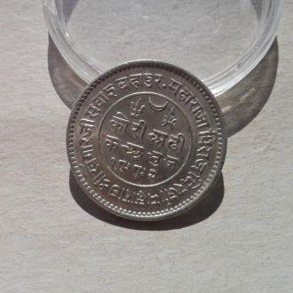 Индия КАТЧ 2 1/2 кори 1936 серебро СОХРАН РЕДКАЯ !