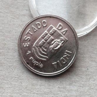 Португальская Индия 1 рупия 1935 серебро СОХРАН !!