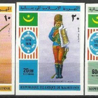 Мавритания 1976 200 лет США униформа 5м.б/з**