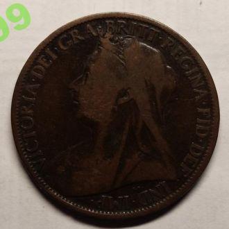 1 пенни 1899 года АНГЛИЯ