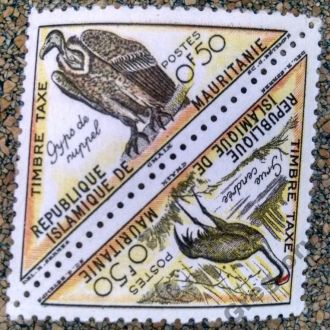 марки Мавритания фауна птицы сцепка