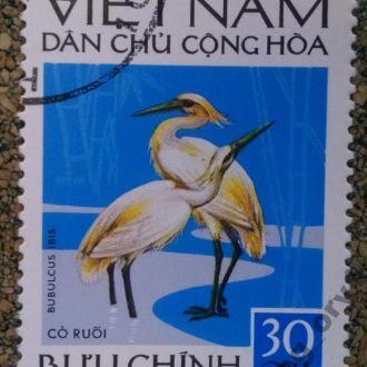 марки Вьетнам фауна птицы цапли