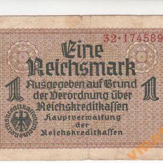 Германия 1 рейхсмарка 1940-1945 год с конгревом