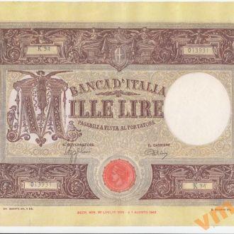 Италия 1000 лир 1943 год