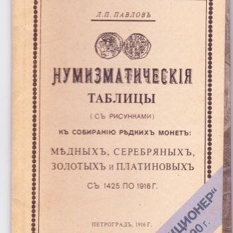 Нумизматические таблицы Павлова(репринт)1916г.