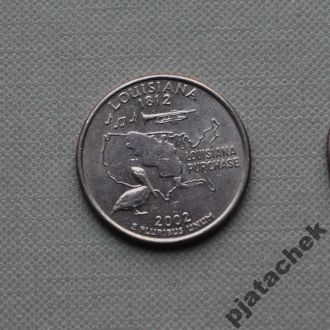 25 центов США Луизиана 2002 г. P